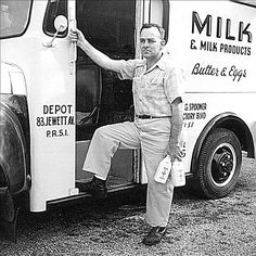 Cap, the milkman (just ignore the truck) from Unity Village. #OutofTimeSeries #ATime2Speak