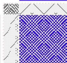 draft image: Plate No. 4 Weave No. 13, A Treatise on Designing and Weaving Plain and Fancy Woolen Cloths, A. A. Baldwin, 14S, 20T