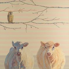 Angel, Bell, and the Owl - by Nancy Bass (the pink stripes - swoon!)