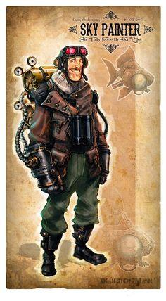 Steampunk Tendencies | Dean Stolpmann (Steampunk Pilot) #Digitalart #Character #Pilot #Steampunk