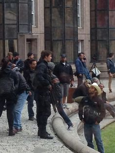MORE PICS and VIDEO: The Mockingjay Set in Paris