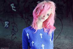 grafika girl, pink, and hair