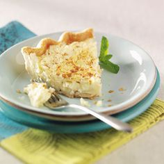 Can't Miss Coconut Custard Pie Recipe from Taste of Home