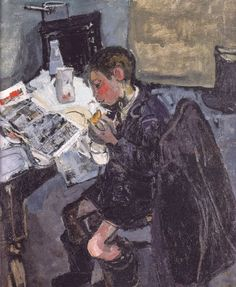 Andrew with a comic by Joan Eardley born May 1921 in Warnham (West Sussex), UK died August 1963 in Killearn (Glasgow), UK Figure Painting, Painting & Drawing, Glasgow School Of Art, Glasgow Uk, Popular Artists, Illustrations, A Comics, Figurative Art, Traditional Art