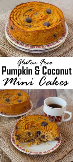 Gluten Free Pumpkin & Coconut Mini Cakes with Chocolate Chips @RunninSrilankan