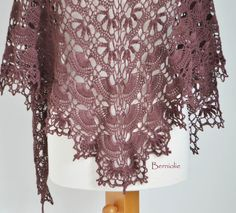 Lace crochet shawl Plum  M178 by Berniolie on Etsy, $116.00 https://www.facebook.com/Berniolie-440248762699969/?ref=hl