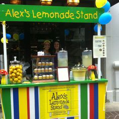 Sell lemonade #colorfully! With a DIY Lemonade Stand to benefit childhood cancer research! #Lemonade