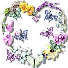 Happy Spring Butterfly Wreath gif animated butterfly flowers spring wreath