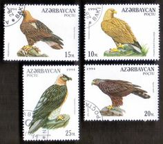 birds of prey stamps | ... (03/1) 1994 Eagles Birds of Prey 4 Diff. Stamps ! Gift Children