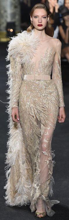 Catwalk photos and all the looks from Elie Saab Autumn/Winter Couture Paris Fashion Week