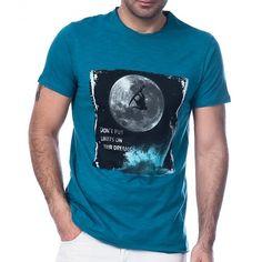 Scorp Graphics Surf in Space Baskılı Erkek Tişört