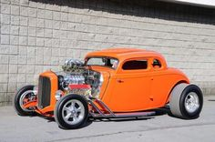 Blown 33 Ford 5 Window Coupe Hot Rod with a 32 Ford Grille