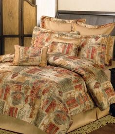 Sherry Kline Gallery Print Comforter Set, Queen,Multi, 8 Piece by Sherry Kline. Save 14 Off!. $163.79. 100% Polyester. Features 100-percent polyester fabrics in ancient gallery prints in colors gold, rust, brown, moss. Comforter fabric:100-percent polyester. Bedding set includes one comforter, one bedskirt, two shams, one boudoir pillow, one square pillow and two euro shams. Update your bedroom decor with this luxurious comforter set. Dry clean recommended and pillows spot clean. Sherry…