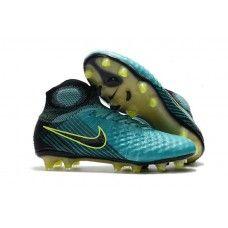 timeless design e3ae1 d0e9f Nike Magista Obra II FG Sock Football Boots - Green Black Volt