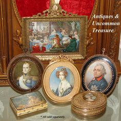 Rare Antique French Portrait Miniature, King Frederick II, (Frederick from antiques-uncommon-treasure on Ruby Lane