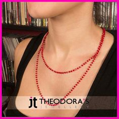 Long steel rosary necklace with burgundy crystals from stainless steel. This particular necklace can be worn long on it's own or as two different necklaces one long and one short.-----------------------------------------------------------------Μακρύ ατσάλινο κολιέ ροζάριο με μπορντό κρύσταλλα από ανοξείδωτο ατσάλι. Μπορεί να φορεθεί μονό μακρύ ή διπλό. Ένα υπέροχο διακριτικό και διαχρονικό γυναικείο κολιέ ροζάριο που δεν πρέπει να λείπει από τη συλλογή σας.