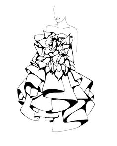 42 best sketch images painting drawing sketching watercolor Clothing Sketches Fashion Design how to sketch layered ruffles fashion drawings fashion sketches fashion illustrations marchesa spring