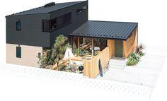 フリークスストアがつくる家。「LIFE LABEL」と「フリークスストア」のコラボレーションで生まれた、解放感あふれるデザイン住宅。このサイトでは、FREAK'S HOUSEの特徴や、暮らし方のサンプルをご紹介しています。 Architecture Office, Residential Architecture, Contemporary Architecture, Architecture Design, Style At Home, Home Room Design, House Design, Random House, Simple House