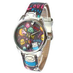 """""""Adventure Time"""" Unisex Quartz Watch Art-Deco Style Stainless Steel Wrist Watch - Wristwatches"""