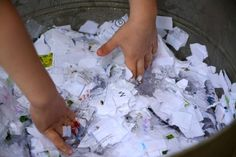 Recycling paper - An easy Montessori-style activity for toddlers