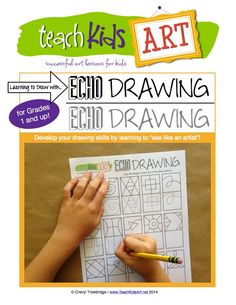 Echo Drawing. First glance I thought this was silly. But would make a good anchor activity or sub day project for k-2. Then color in if time permits!