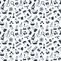 Seamless Science Pattern — Vector EPS #dna #school • Available here → https://graphicriver.net/item/seamless-science-pattern/5685720?ref=pxcr