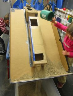 CHANNEL, TUBE AND A HOMEMADE PLUNGER :SAND AND WATER TABLES: