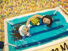 Follow Kid Chef Delainey at Delaineys Diner on Facebook & Youtube -Water Polo Cake