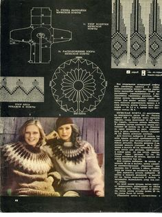 """Photo from album """"Силуэт вязание"""" on Yandex. Knitting Charts, Knitting Patterns Free, Knit Patterns, Free Knitting, Jumper Patterns, Drops Patterns, Inspired By Iceland, Icelandic Sweaters, American Girl Clothes"""