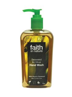 Seaweed Hand Wash This subtle expert blend of essential oils cleanses and cares for skin. Organic Seaweed is rich in iodine, selenium and other essential trace minerals, vitamins and proteins. It is a known antioxidant, removing free radicals and reducing cellular damage, and regenerates and promotes healthy skin. For all skin types Parabens & SLES free No artificial colours or fragrances pH balanced Biodegradable