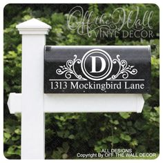 Vinyl-Mailbox-Lettering-Decoration-Decal-Sticker-X2-For-Each-Side-D4