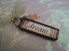 DREAM Soldered Glass Pendant by victoriacharlotte on Etsy, $9.95