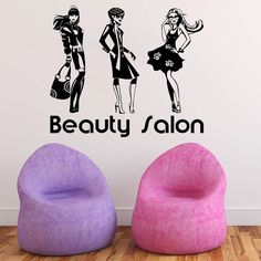 Wall Decal Vinyl Sticker Decals Art Home Decor Design Mural Hairdressing Hair Beauty Salon Nail Girl Woman Scissors Fashion Cosmetic