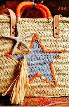744&CAPAZOS Nueva Colección 2014 Mod.Grande STAR grey+orange HAND PAINTED