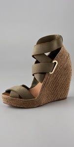 The essential summer wedge shoe. Mmmmmm