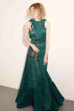 RESORT 2015 LANVIN| gorgeous romantic boho emerald green long lace dress