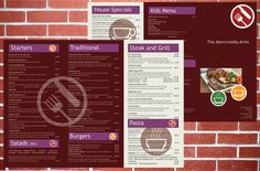 Did you know we can design and print menus? Check some options out here http://www.weeprint.co.uk/product/a3-menus/