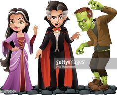 Alfa img - Showing > Frankenstein and Dracula Cartoon