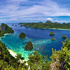 View of Paradise in Raja Ampat - Papua, Indonesia