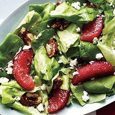 Want to look healthier and more lean before summer arrives? Then start eating healthy but filling salads like this Grapefruit, Walnut, and Feta Salad. Grapefruit in particular has been to help people lose weight faster.