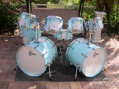 Super Cool New Gretsch '57 Renown 9 Piece Drum Set in Motor City Black Lot K865 | eBay