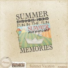 Scrapbooking TammyTags -- TT - Designer - Kimeric Kreations,  TT - Item - Word Art, TT - Style - Cluster, TT - Theme - Summer or Beach