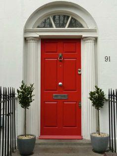 Red Regency door by the London Door Company. Get some curb appeal ...