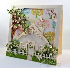 Build a Home Sweet Home Scene by kittie747 - Cards and Paper Crafts at Splitcoaststampers