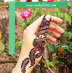 Finger Mehndi Designs Arabic, Henna Flower Designs, Peacock Mehndi Designs, Mehndi Designs Book, Stylish Mehndi Designs, Mehndi Designs 2018, Mehndi Designs For Beginners, Mehndi Designs For Girls, Mehndi Design Photos