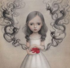 Nicoletta Ceccoli - 33 Artworks, Bio & Shows on Artsy Art Pop, Illustration Inspiration, Illustration Art, Art Illustrations, Fashion Illustrations, Arte Lowbrow, Art Fantaisiste, Art Mignon, Mark Ryden