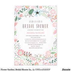 Flower Garden | Bridal Shower Invitat - Customized 5x7 Paper Invitation Card