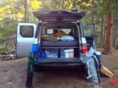 After sleeping in the back of the Honda Element a few times, I realized that, 1. it's actually comfortable, and 2. it can be even more comfo...