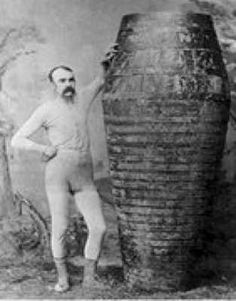 """In 1920, Charles Stephens was the first (recorded) person to die going over Niagara Falls. His arms were strapped to his oak barrel, his feet tied to an anvil; when the barrel hit the water the anvil–and Stephens– went through its bottom. All that was recovered from the barrel was his right arm tattooed with """"Forget Me Not Annie""""."""