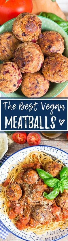 These vegan meatballs are made from kidney beans and sunflower seeds. They are really easy to make and super delicious. Serve them with spaghetti for a quick dinner! <3 | veganheaven.org